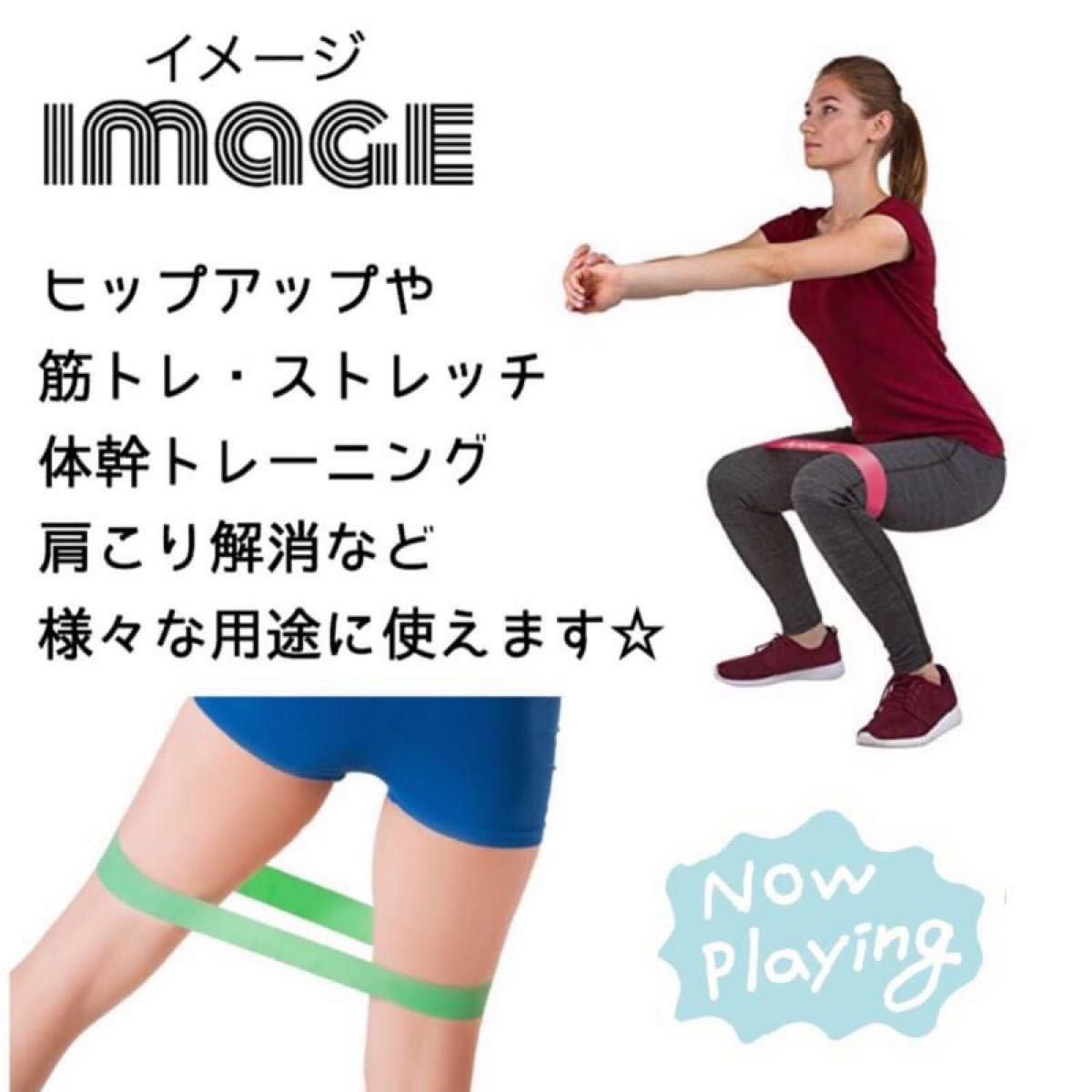 トレーニングチューブ フィットネス ダイエット 体幹  強度別 5本セット ゴム