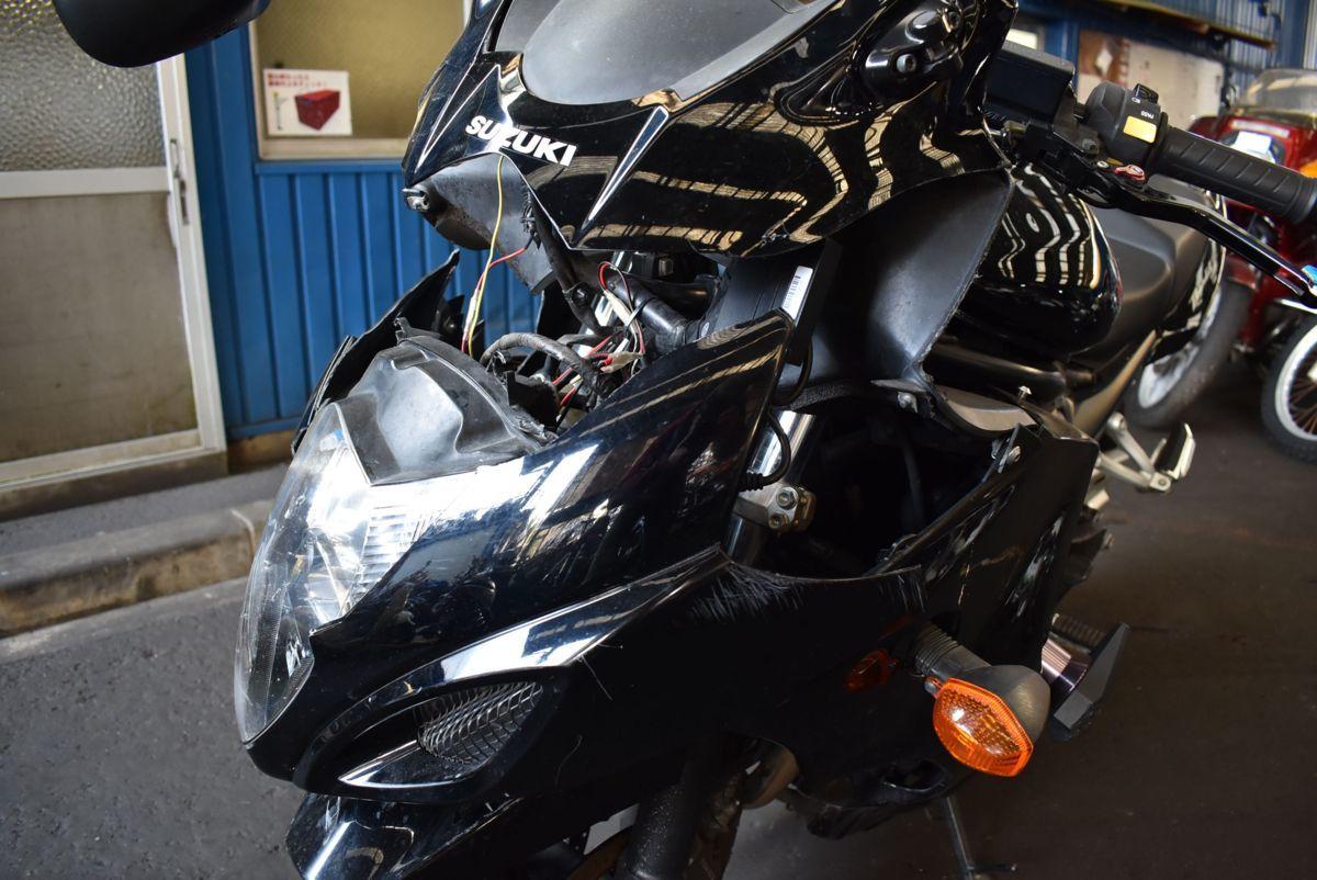 「SUZUKI BANDIT1250F 事故転倒車 部品取り 修復素材に 大阪発 引き取り大歓迎」の画像2