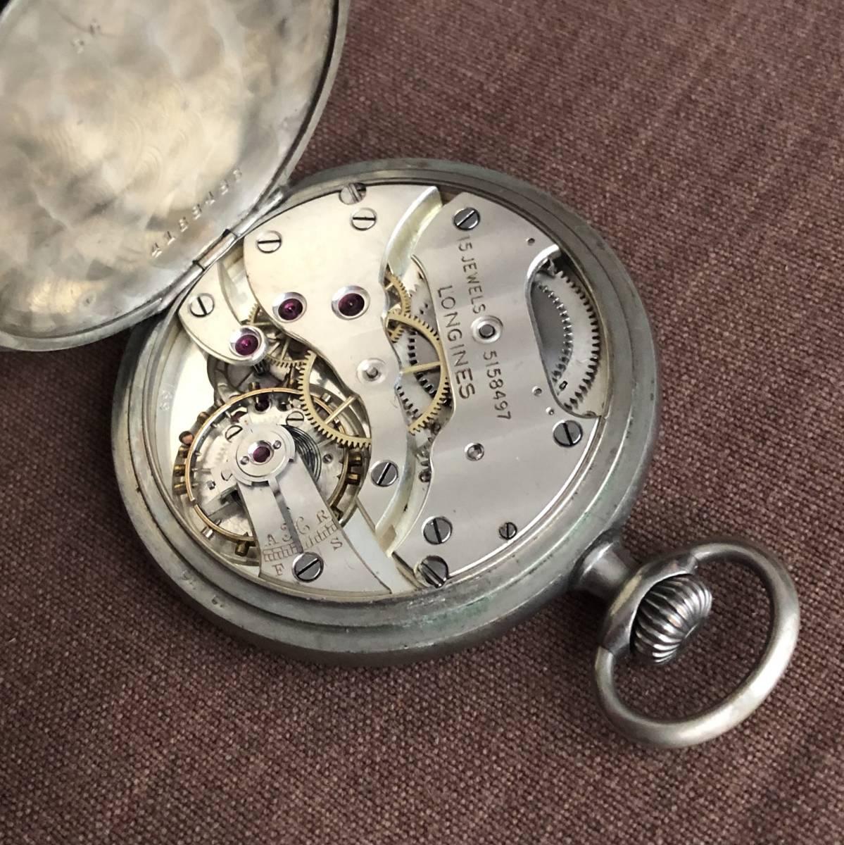 ★★★ ジャンク アンティーク ロンジン 懐中時計 ★★★_画像5