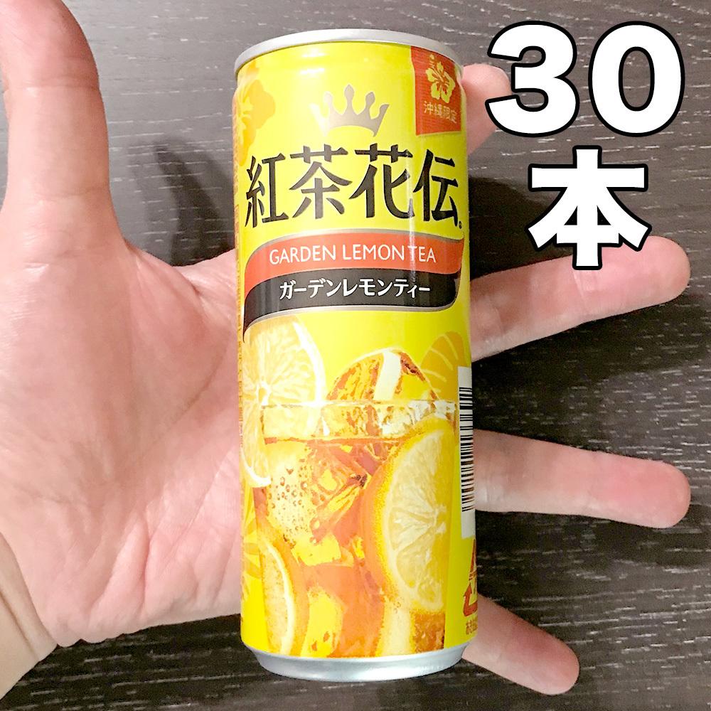 紅茶花伝 ガーデンレモンティー 250ml 30缶(1ケース) 新品 未開封品 ( 沖縄限定ドリンク ご当地 ソフトドリンク ジュース 紅茶