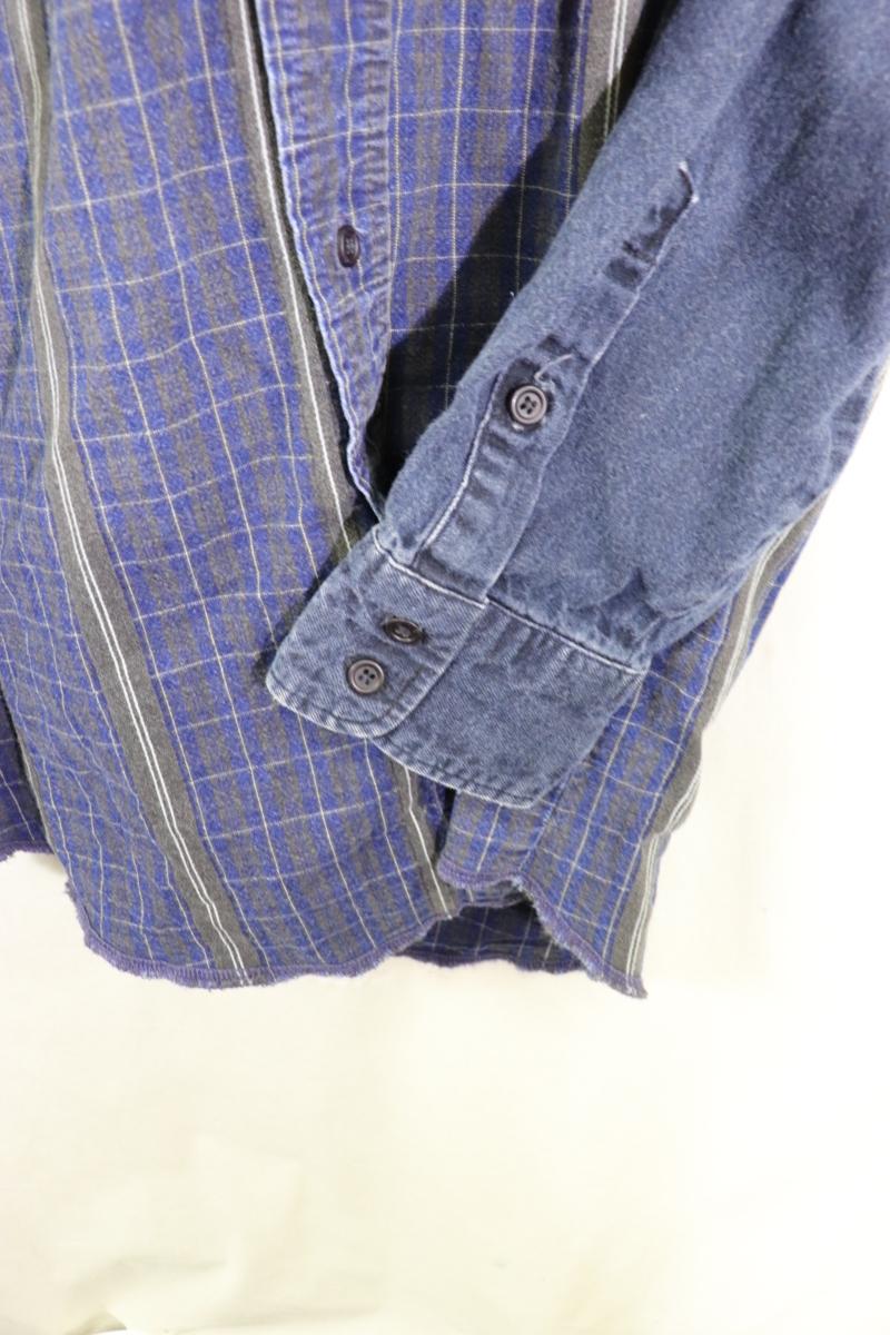 【メンズ】【良品保証返品OK】ラングラーデニム切り替え長袖シャツ/クレイジー希少デザイン♪15 1/2-34_画像5