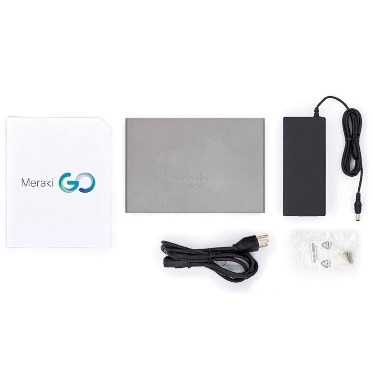 Cisco Meraki Go スイッチングハブ 8ポート PoE給電対応