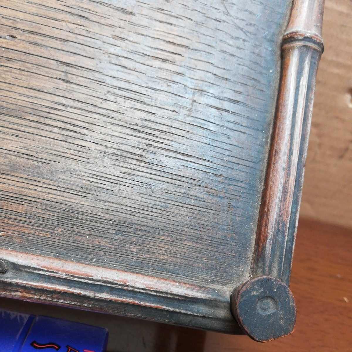 竹製花台 竹製長方飾台 長方花台 盆栽台 香炉台 華道具 茶道具 _画像4