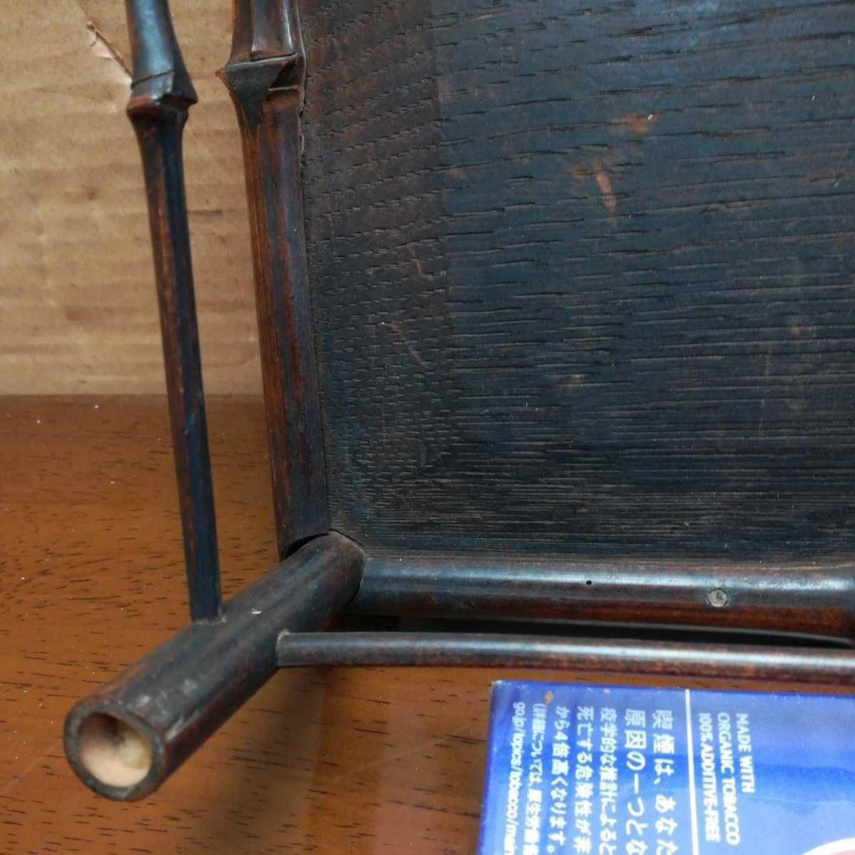 竹製花台 竹製長方飾台 長方花台 盆栽台 香炉台 華道具 茶道具 _画像6