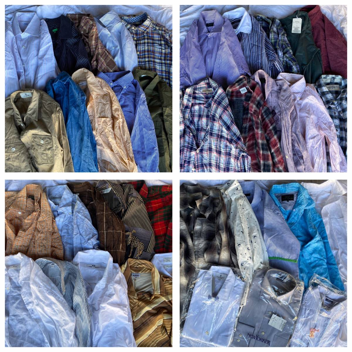 M68*大量*メンズブランドシャツ! 38枚 ディオール、パパス等 セット まとめ売り メンズ シャツ まとめ 古着 色々 卸 洋服 ベール 業販