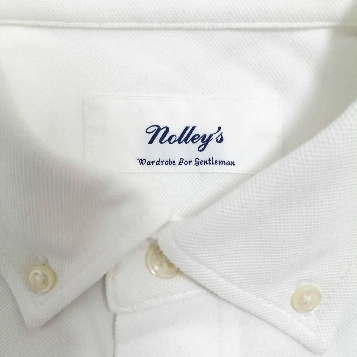 NOLLEY'S メンズM 半袖シャツ ボタンダウン オフィスカジュアル 白シャツ