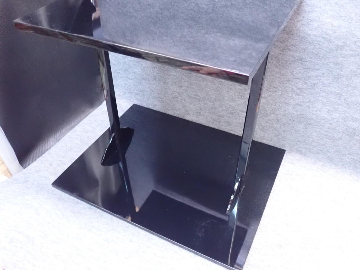 ★012002 茶道具 木製 黒四方棚 ★_画像3