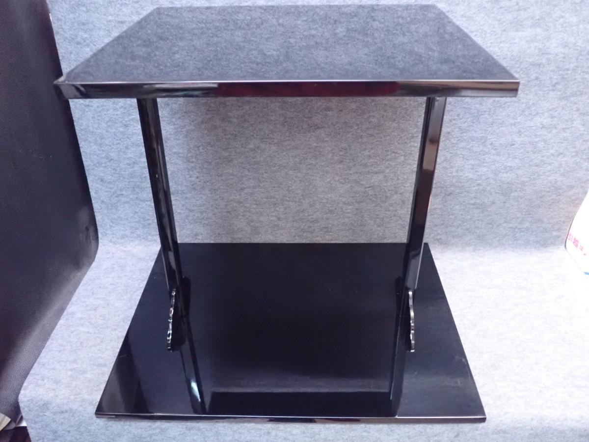 ★012002 茶道具 木製 黒四方棚 ★_画像1