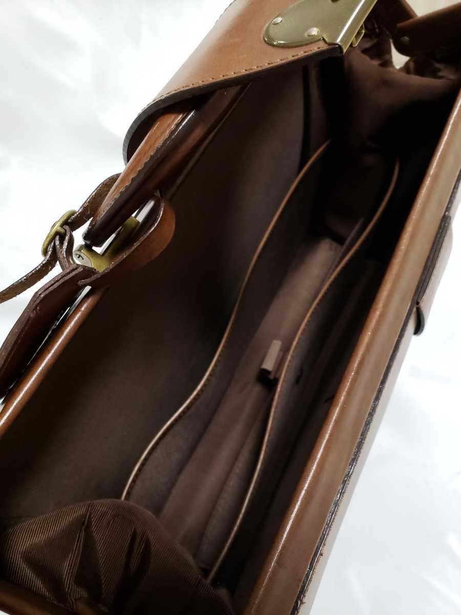 希少 Paul Smithポールスミス ダレスバッグ ビジネスバッグ 最高級レザー 本革 正規品 鍵付き 鞄 メンズ紳士 チャコール茶 ブリーフケース _画像5
