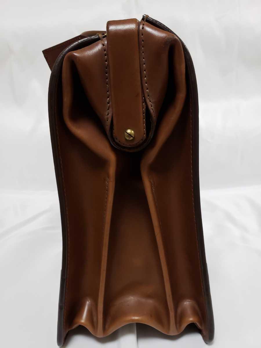 希少 Paul Smithポールスミス ダレスバッグ ビジネスバッグ 最高級レザー 本革 正規品 鍵付き 鞄 メンズ紳士 チャコール茶 ブリーフケース _画像8