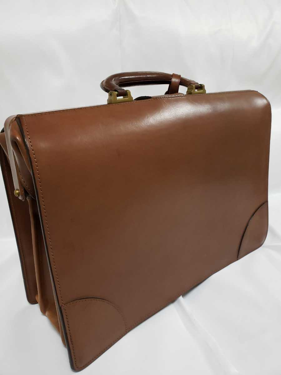 希少 Paul Smithポールスミス ダレスバッグ ビジネスバッグ 最高級レザー 本革 正規品 鍵付き 鞄 メンズ紳士 チャコール茶 ブリーフケース _画像2