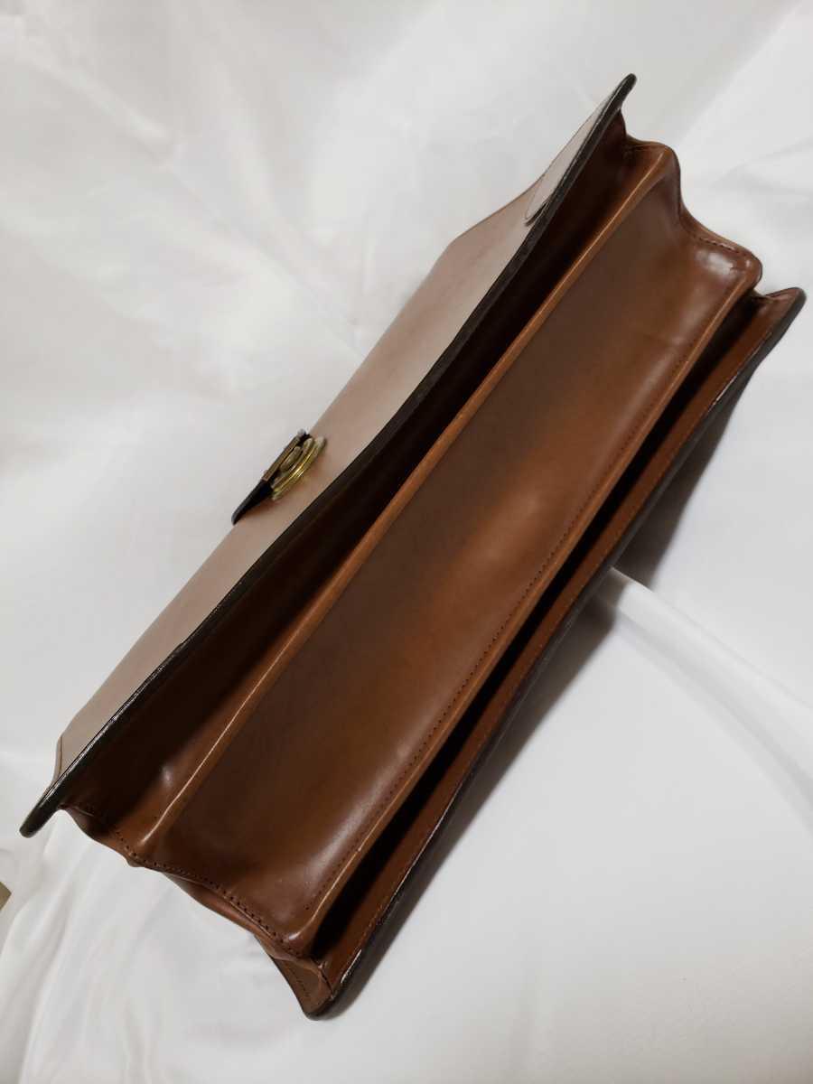 希少 Paul Smithポールスミス ダレスバッグ ビジネスバッグ 最高級レザー 本革 正規品 鍵付き 鞄 メンズ紳士 チャコール茶 ブリーフケース _画像10