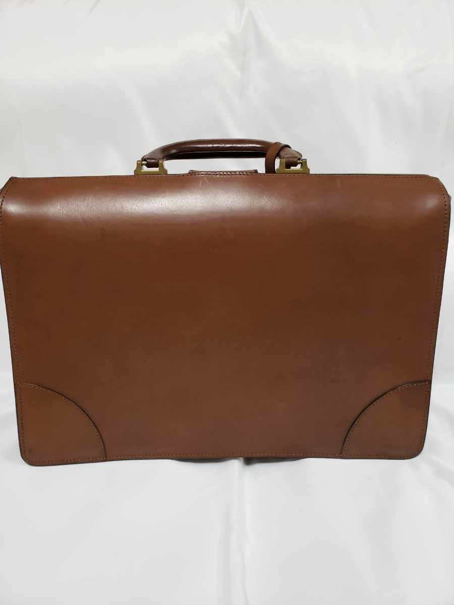 希少 Paul Smithポールスミス ダレスバッグ ビジネスバッグ 最高級レザー 本革 正規品 鍵付き 鞄 メンズ紳士 チャコール茶 ブリーフケース _画像3