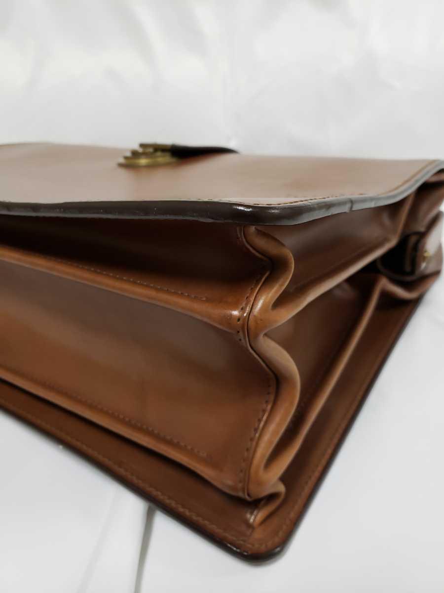 希少 Paul Smithポールスミス ダレスバッグ ビジネスバッグ 最高級レザー 本革 正規品 鍵付き 鞄 メンズ紳士 チャコール茶 ブリーフケース _画像9