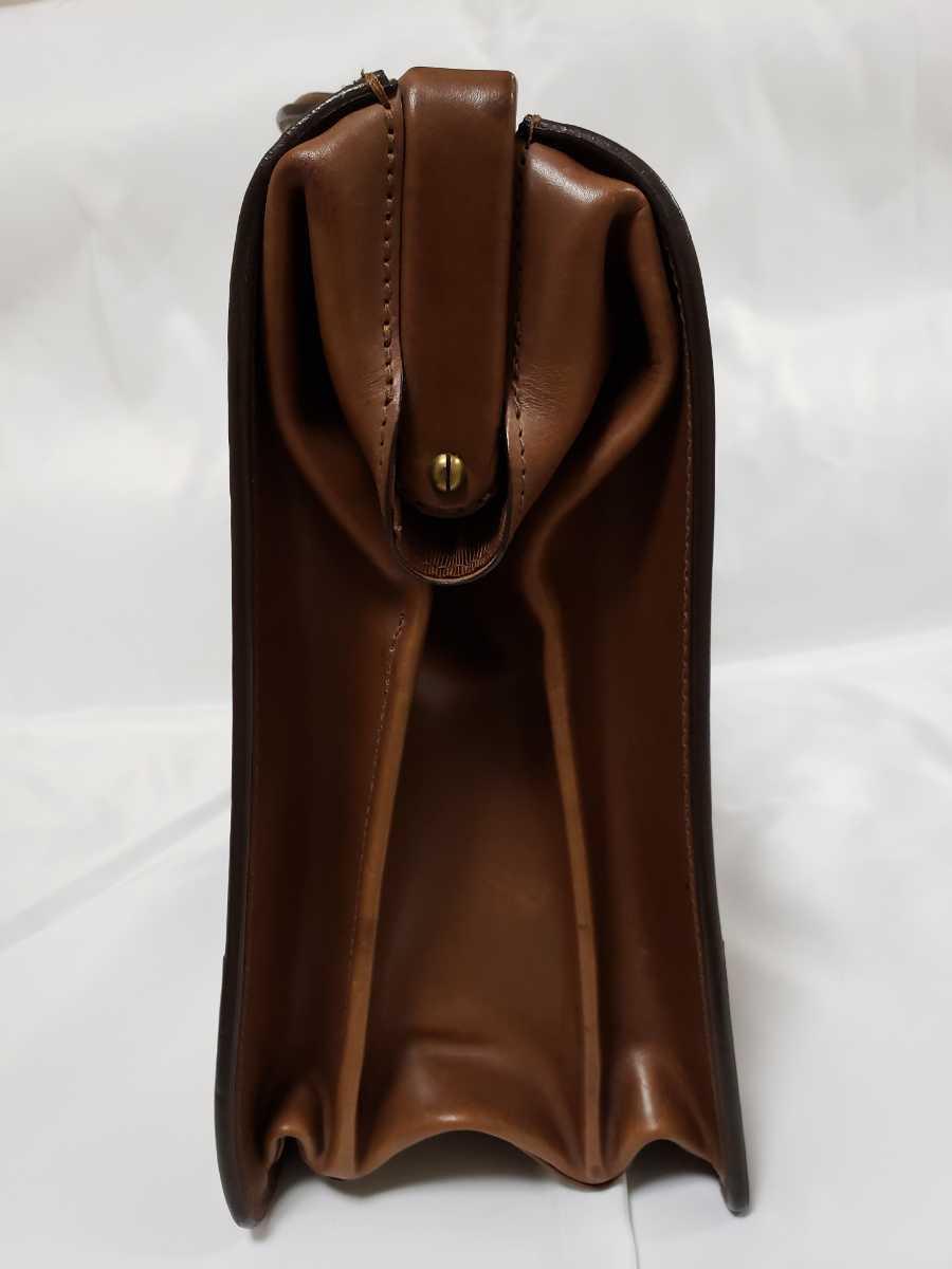 希少 Paul Smithポールスミス ダレスバッグ ビジネスバッグ 最高級レザー 本革 正規品 鍵付き 鞄 メンズ紳士 チャコール茶 ブリーフケース _画像7