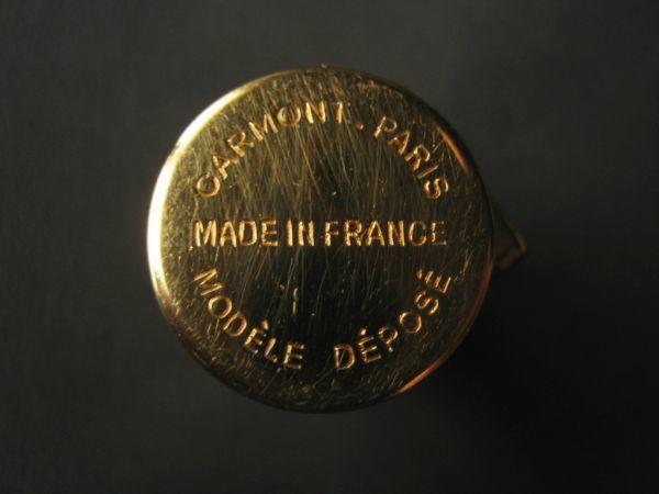 フランス製 CARMONT リップケース FRANCE PARIS ミラー付き 口紅ケース Limoges リモージュ USED アンティーク レトロ_画像6