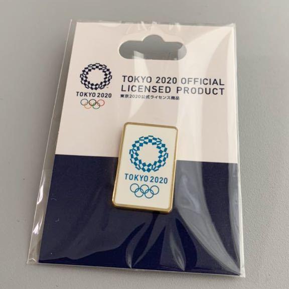 東京オリンピック2020 エンブレム ピンバッジ ゴールド×ブルー 公式ライセンス商品_画像1