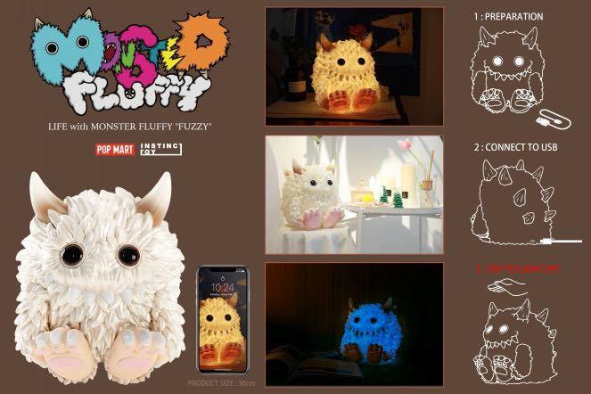 POP MART × INSTINCTOY Monster Fluffy Life with Fuzzy ソフビライト_画像2