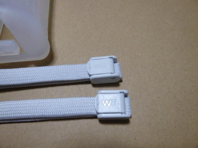 JS003【送料無料】Wii ジャケット ストラップ 2個セット(クリーニング済)白 ホワイト リモコンカバー