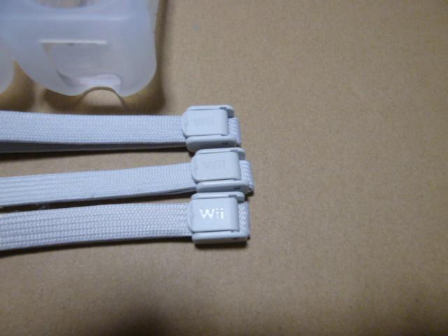 JS002【送料無料】Wii ジャケット ストラップ 3個セット(クリーニング済)白 ホワイト リモコンカバー
