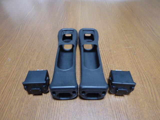 MJ081【送料無料】Wii モーションプラス リモコンカバー ジャケット 2個セット ブラック(クリーニング済)黒