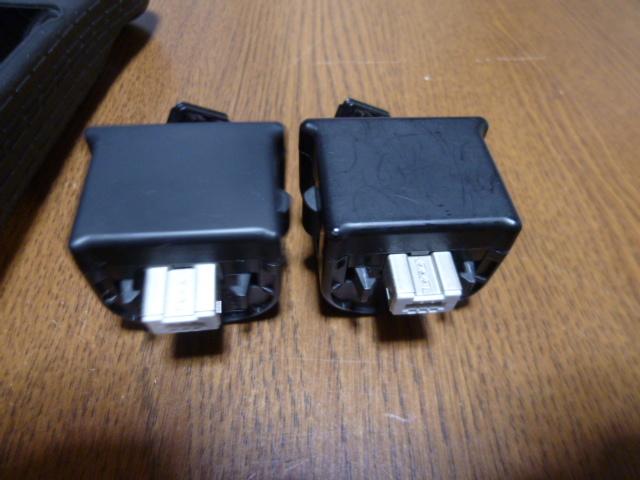 MJ024【送料無料】Wii モーションプラス リモコンカバー ジャケット 2個セット ブラック(クリーニング済)黒