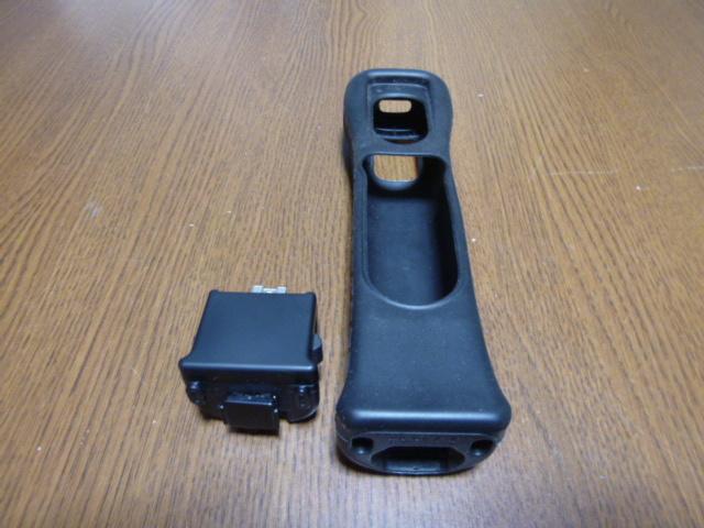 MJ042【送料無料】Wii モーションプラス リモコンカバー ジャケット ブラック(クリーニング済)黒