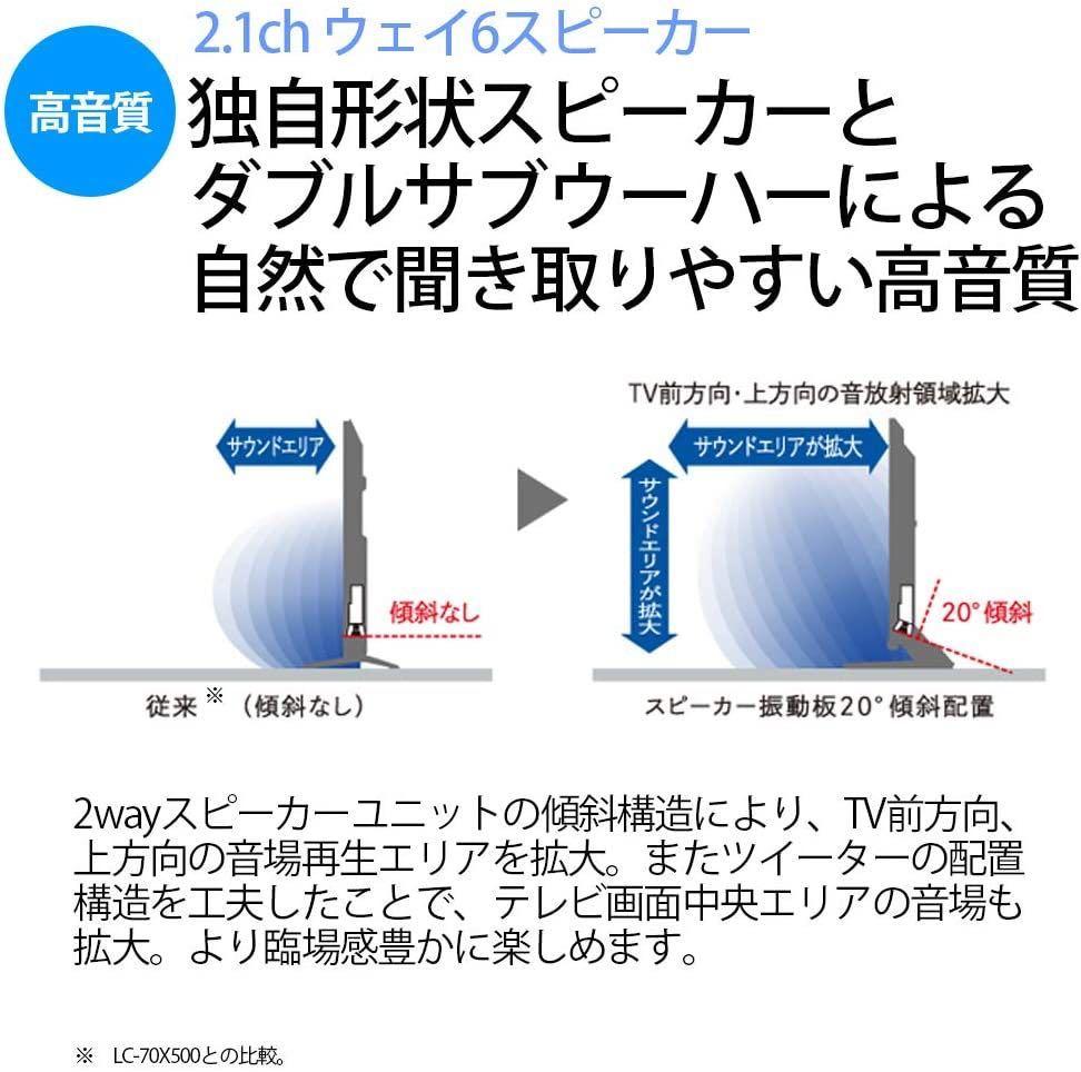 ★即決★新品大特価★シャープ 70V型 液晶 テレビ AQUOS 8T-C70AX1 8K チューナー内蔵 N-Blackパネル 8K倍速液晶 _画像6