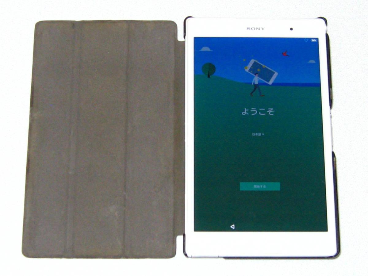 SONY XPERIA エクスぺリア Z3 Tabret Compact SGP612 8インチ 32GB WiFiモデル 白 & 純粋カバー付き☆_画像1