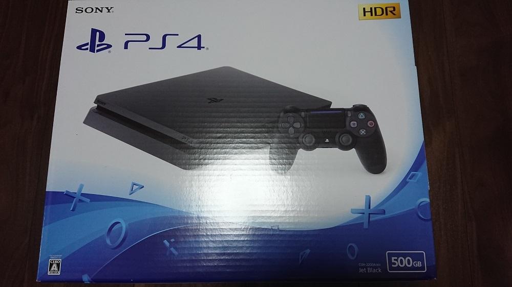 新品未開封品 SONY PlayStation 4 CUH-2200AB01 ジェット・ブラック HDD500GB PS4 【Amazon限定カスタムテーマ】