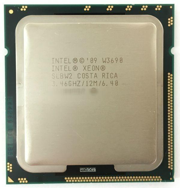 Intel CPU XEON W3690 ×1枚 3.46GHz SLBW2 6コア 12スレッド ソケット FCLGA1366 サーバー用 BIOS起動確認済【中古品】【送料無料】_画像1