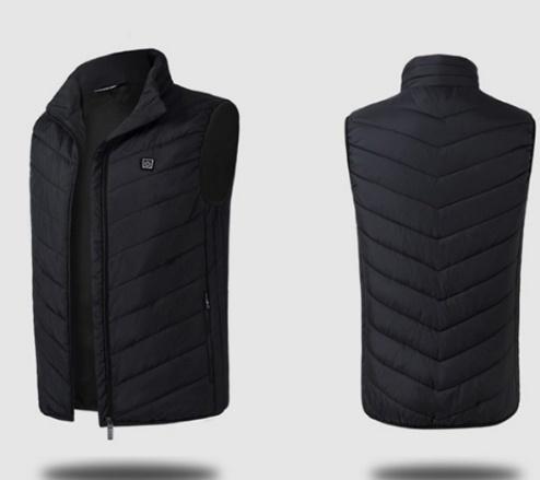 【超安】迷彩 ブラック サイズ選択 電気防寒ベスト10秒即暖 電熱ジャケット USB加熱 3段温度調節 お腹・背中に暖かい リンパ循環 男女兼用_画像2