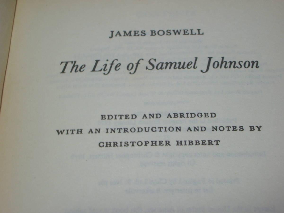 ボスウェル「サミュエル・ジョンソンの生涯」ペンギンブックス(英文) 英文学・イギリス英語・英語辞書_画像2