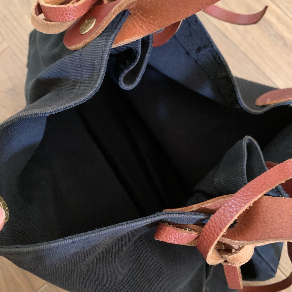トートバッグ ショルダーバッグ★イルビゾンテ★帆布トートバッグ★黒★横幅約28cm