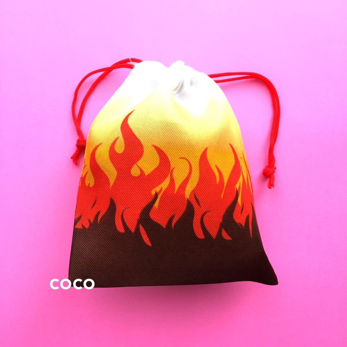 鬼滅の刃風 ミニ巾着袋 4種類セット コップ袋 小物入れ 炭治郎ねずこ善逸煉獄風