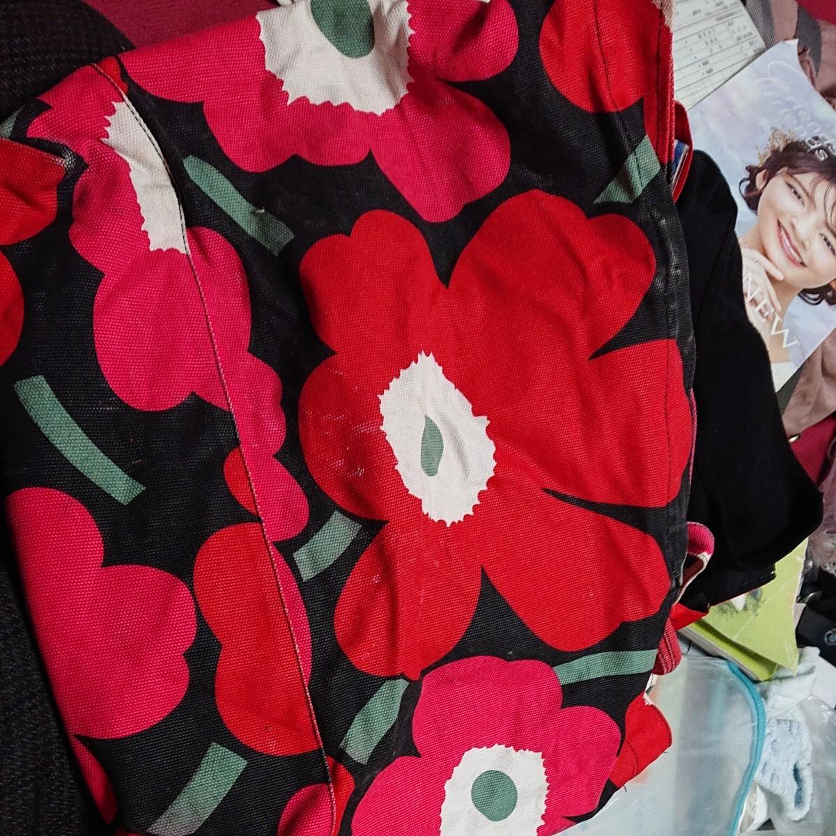 ★HKF 花柄トートバッグ★バッグ トート★ マザーバッグ エコバッグ★マリメッコ好きも必見!