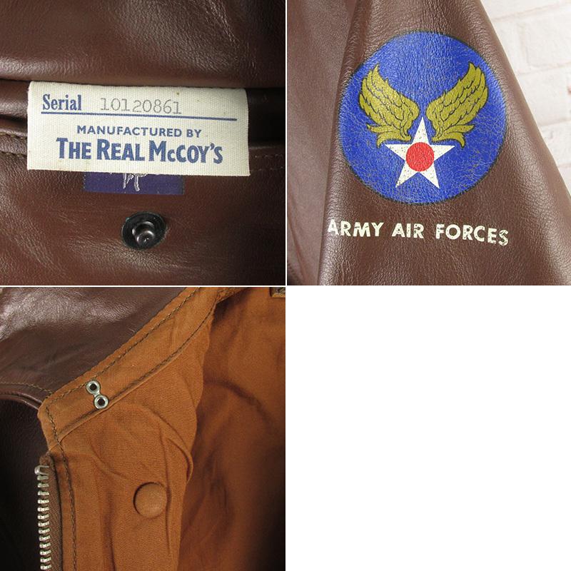 LAWKHJ16502 REAL McCOY'S リアルマッコイズ A-2 フライトジャケット 38_画像7