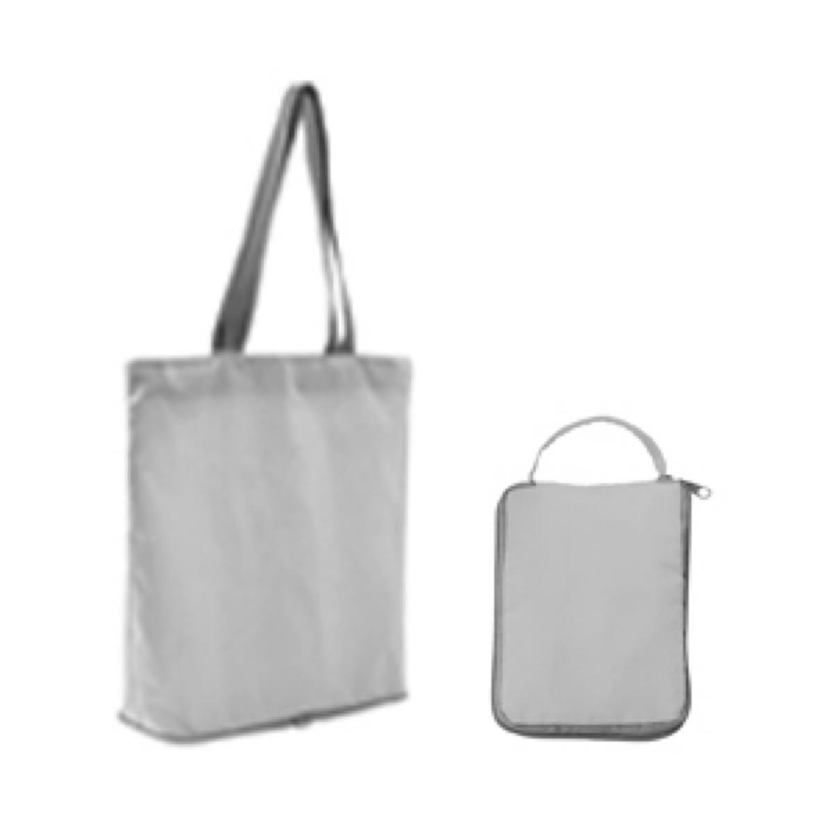 エコバッグ シルバー 大容量 買い物 防水防湿 折り畳み スーパー トートバッグ