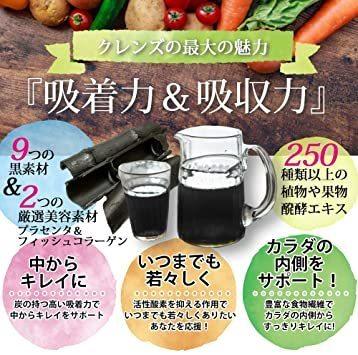 炭 ダイエットサプリ 3つの炭 250種の酵素 ダイエット ジュースバナナ味 チャコール 美人_画像5