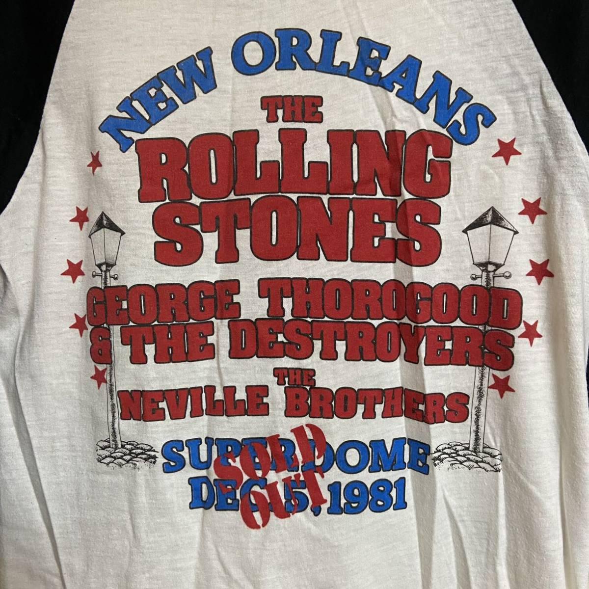 ローリングストーンズ 1981 ベースボールシャツ ニューオーリンズ ドラゴン オリジナル