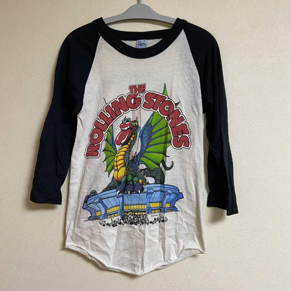 ローリングストーンズ 1981 サンフランシスコ ベースボールシャツ rolling stones ドラゴン オリジナル