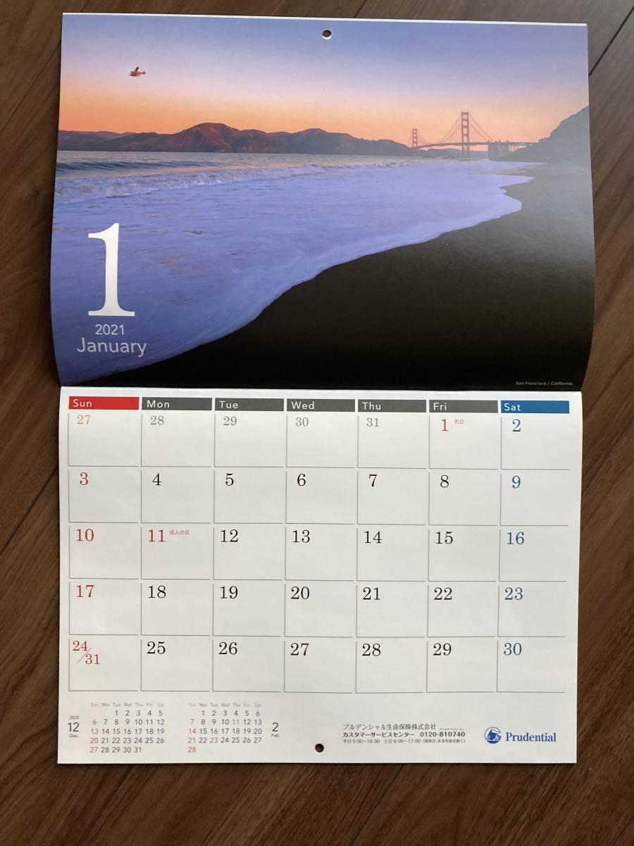 【カレンダー①】プルデンシャル生命■2021壁掛けカレンダー■未使用■世界の風景写真■写真家八雲いつか_画像2