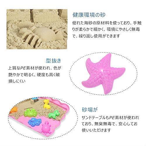 在庫限り 送料無料 砂遊びおもちゃ 砂場セット 砂セット 室内砂場 砂粘土おもちゃ 手を汚さない 22型抜き 付きサンドボックス (原色)_画像5