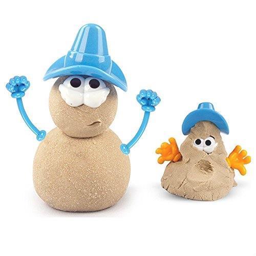 在庫限り 送料無料 砂遊びおもちゃ 砂場セット 砂セット 室内砂場 砂粘土おもちゃ 手を汚さない 22型抜き 付きサンドボックス (原色)_画像4