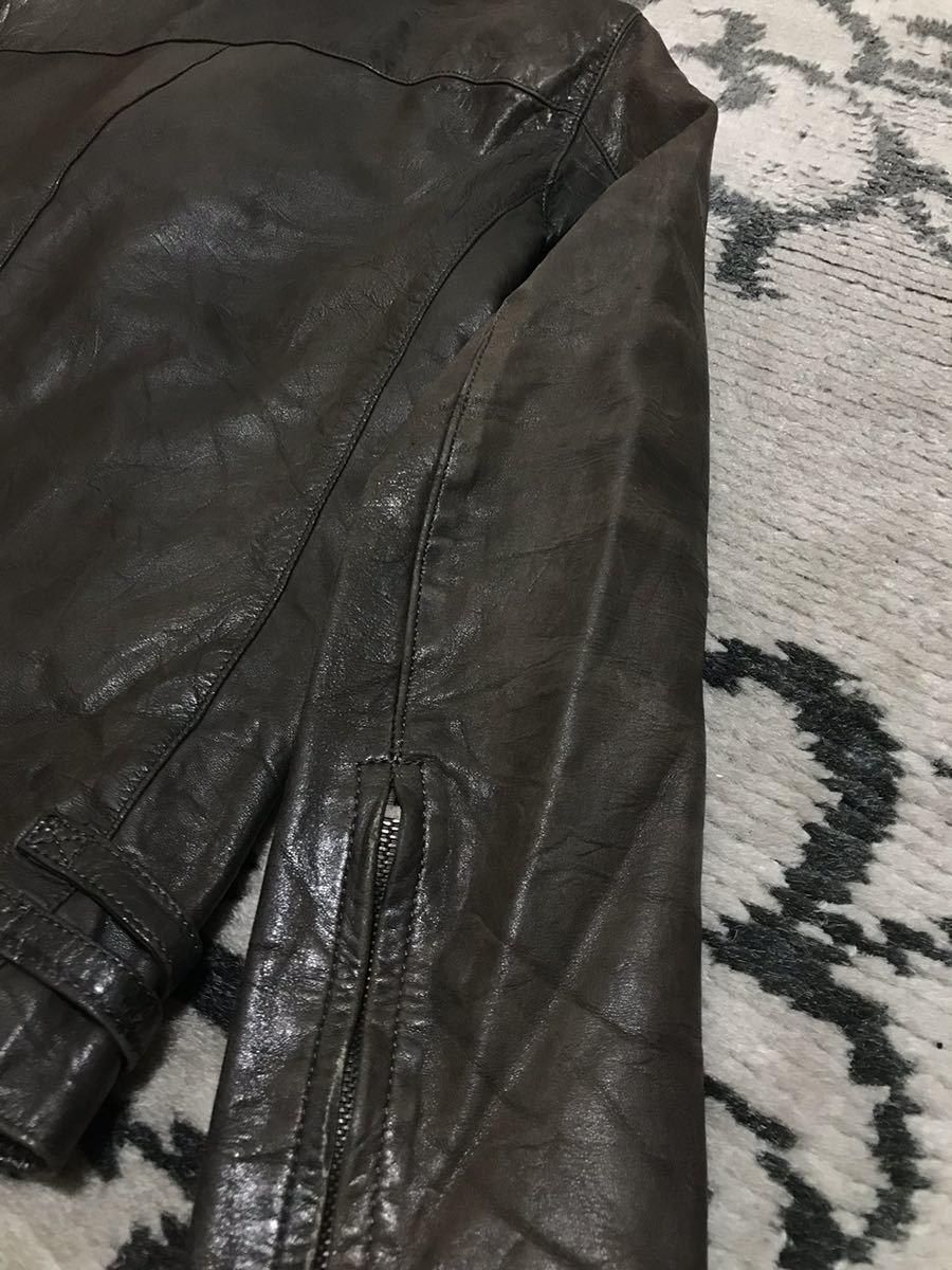 アタッチメント ダブルライダース ライダースジャケット レザージャケット _画像4