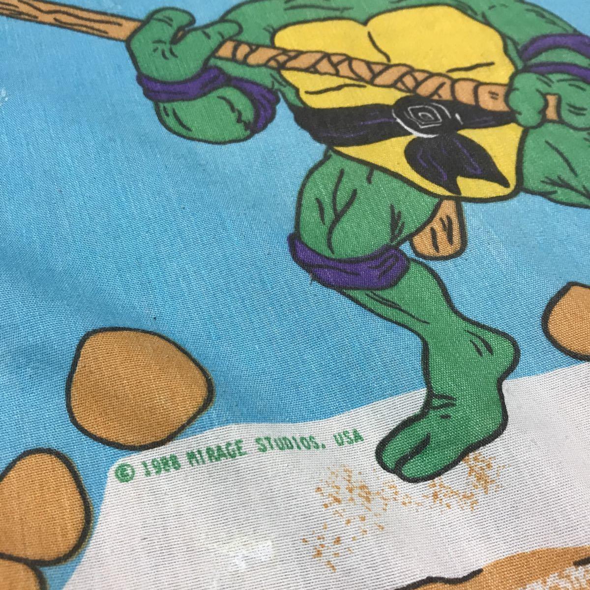 USA製!巨大!ビンテージ 80年代 ミュータント タートルズ TURTLES シーツ 生地 素材 リメイク生地 布 家具 インテリア コピーライトあり_画像5