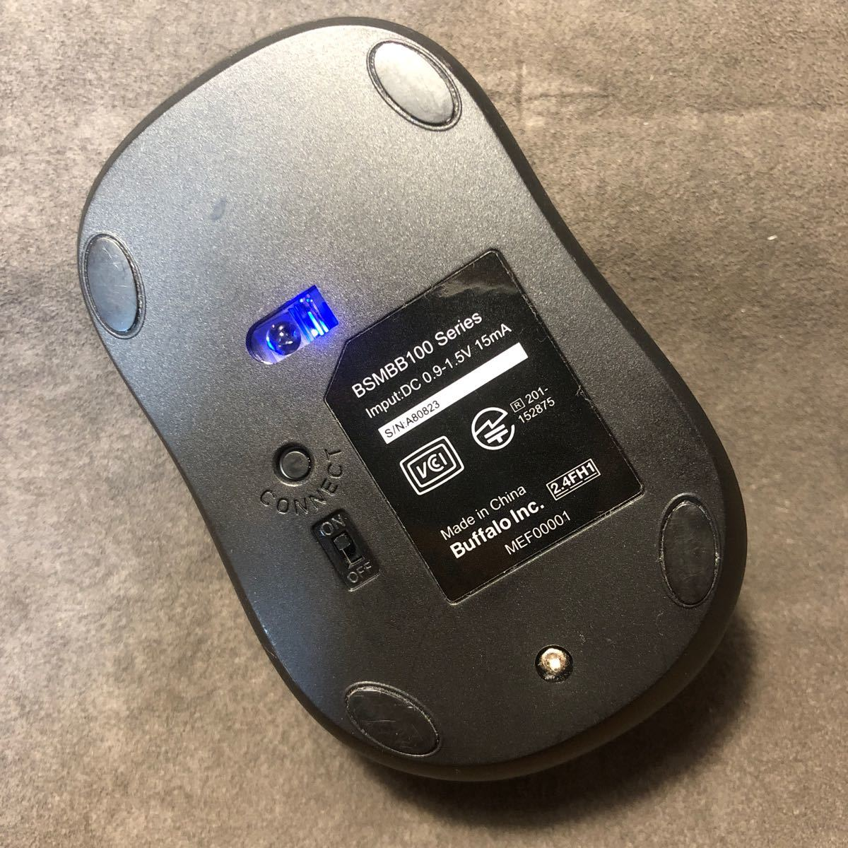 ワイヤレスマウス バッファロー Bluetooth ワイヤレス BSMBB 100 Series BlueLED 静音 3ボタン