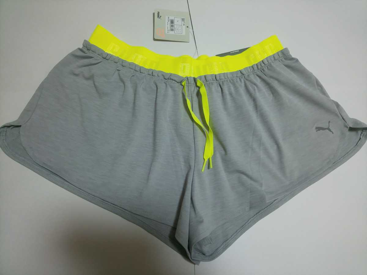 新品 PUMA ショートパンツ L レディース ランニング マラソン 運動 プーマ グレ
