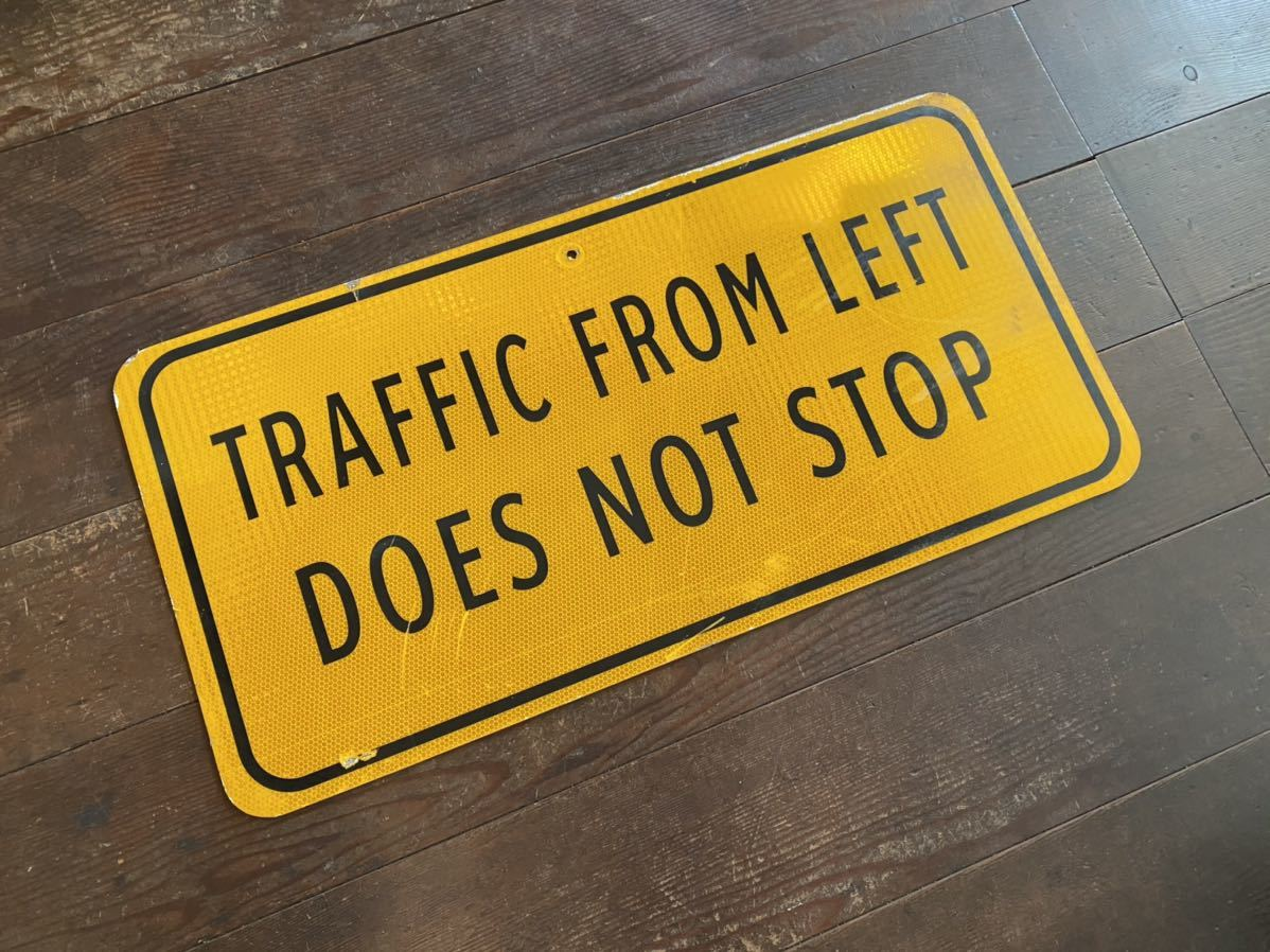 ★本物★アメリカ 道路標識★HC-B3★NOT STOP 止まるな 止まらない 案内 ロード サイン road Sign ガレージ 世田谷ベース 看板 ビンテージ_画像10