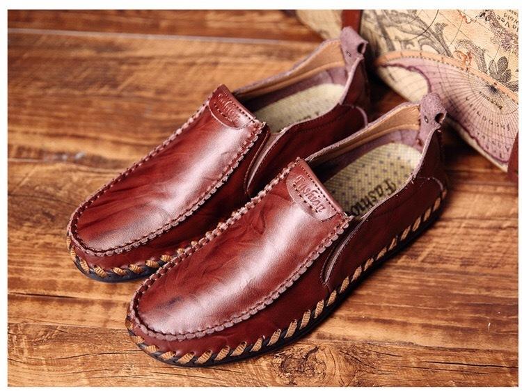 送料無料 新品メンズ ビジネスシューズ ローファー紳士靴通勤ドライビングシューズスリッポン軽量通気カジュアル A204_画像3